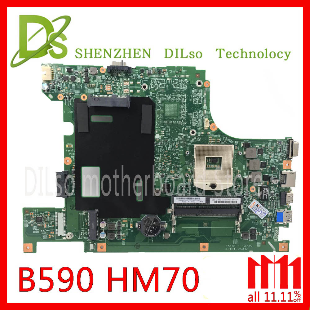 KEFU B590 mainboard For lenovo B590 B580 Laptop motherboard PGA989 HM70 Test work 100% original original for lenovo b490 v470 motherboard mainboard 48 4td01 011 100