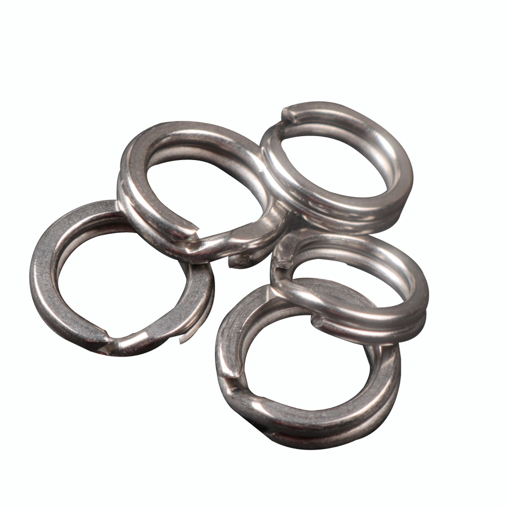 10pc-100Pc Fishing Rings Stainless Steel Split Rings High Quality Strengthen Solid Ring Lure Connecting Ring Fishing Accessories