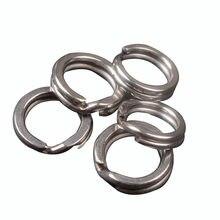 10pc-100pc anéis de pesca aço inoxidável split anéis de alta qualidade fortalecer anel sólido isca anel de conexão acessórios de pesca