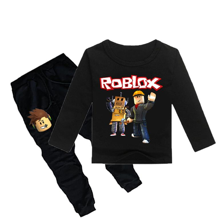 2020 Children Roblox Game Print Sports Suit Boy T Shirt Pants Kids Spring New Cotton Tops Tees Suit Fashion Clothes Leisure From Zlf999 17 09 Dhgate Com