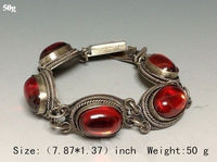 China collection of Tibet dynasty palace MiaoYin inlaid jade bracelet, too fine jewe 5.25