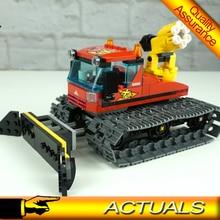 02124 Снежный грумер город большие транспортные средства строительные блоки модель автомобиля Кирпичи Игрушки совместимы с Legoed 60222
