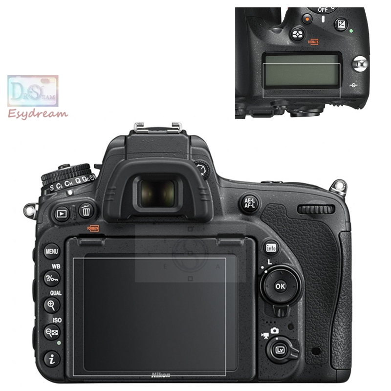 цены Protective Self-adhesive Glass Main LCD + Film Info Screen Protector Guard Cover for Nikon D750 PB394