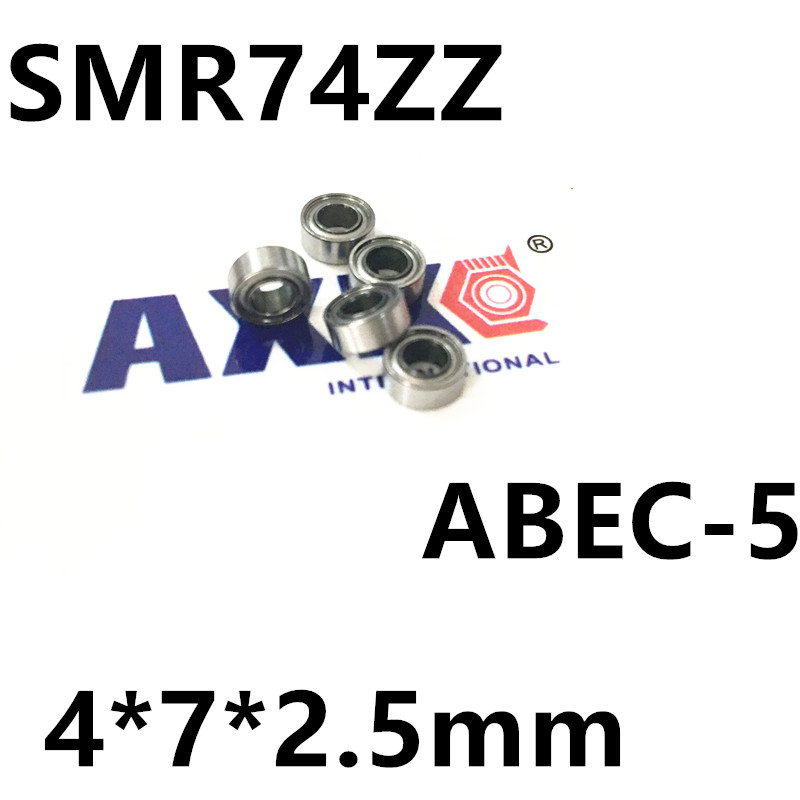 Free Shipping 2PCS 4x7x2.5 Metal Shields Bearings smr74zz Stainless Steel SMR74 ZZ free shipping 2pcs 40mm stainless steel