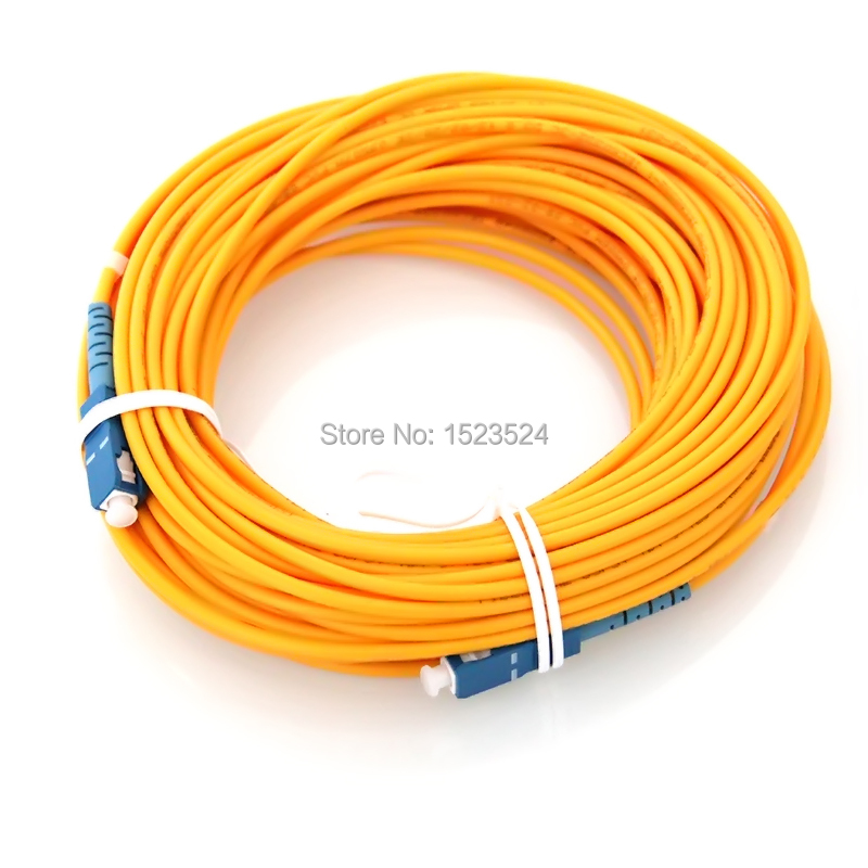 Free Shipping SM SX 3mm 100 Meters Fiber Optic Jumper Cable SC/UPC-SC/UPC Fiber Optic Patch Cord