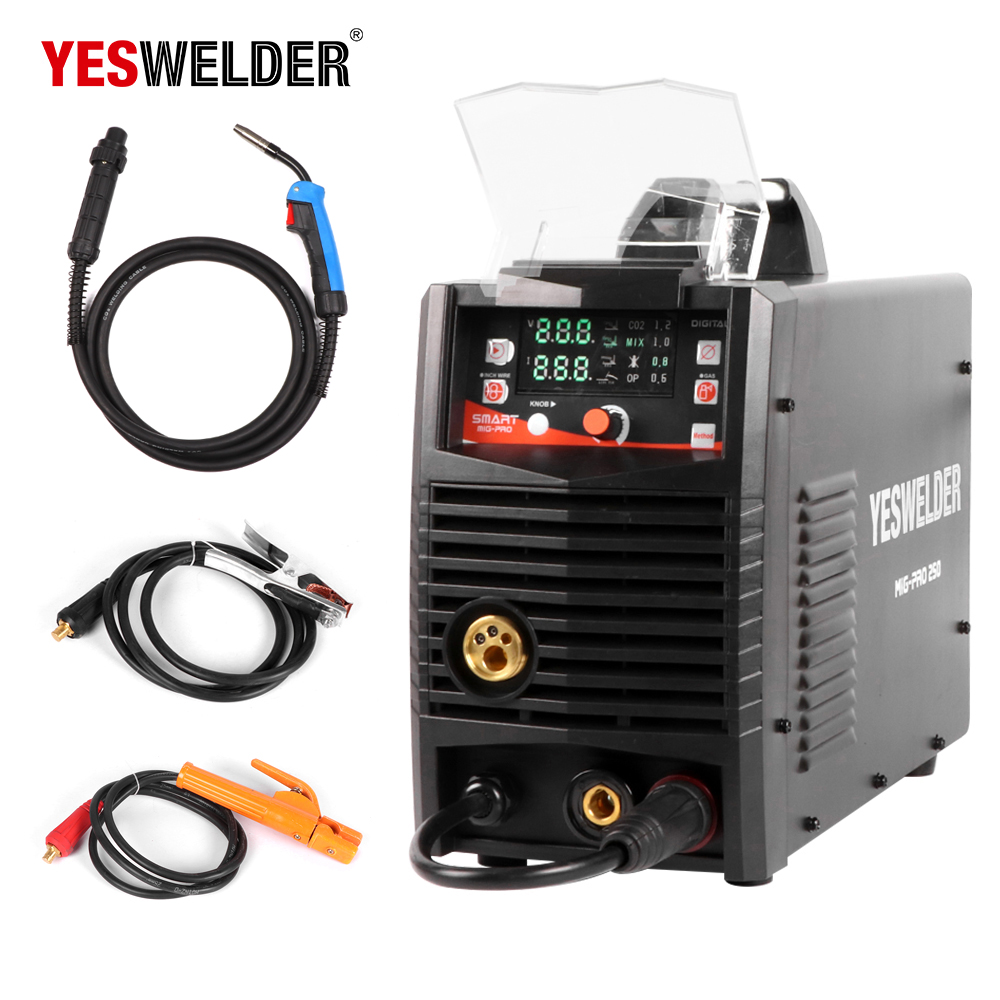 YESWELDER MIG250A No Gas and Gas Welding Machine MIG With ...
