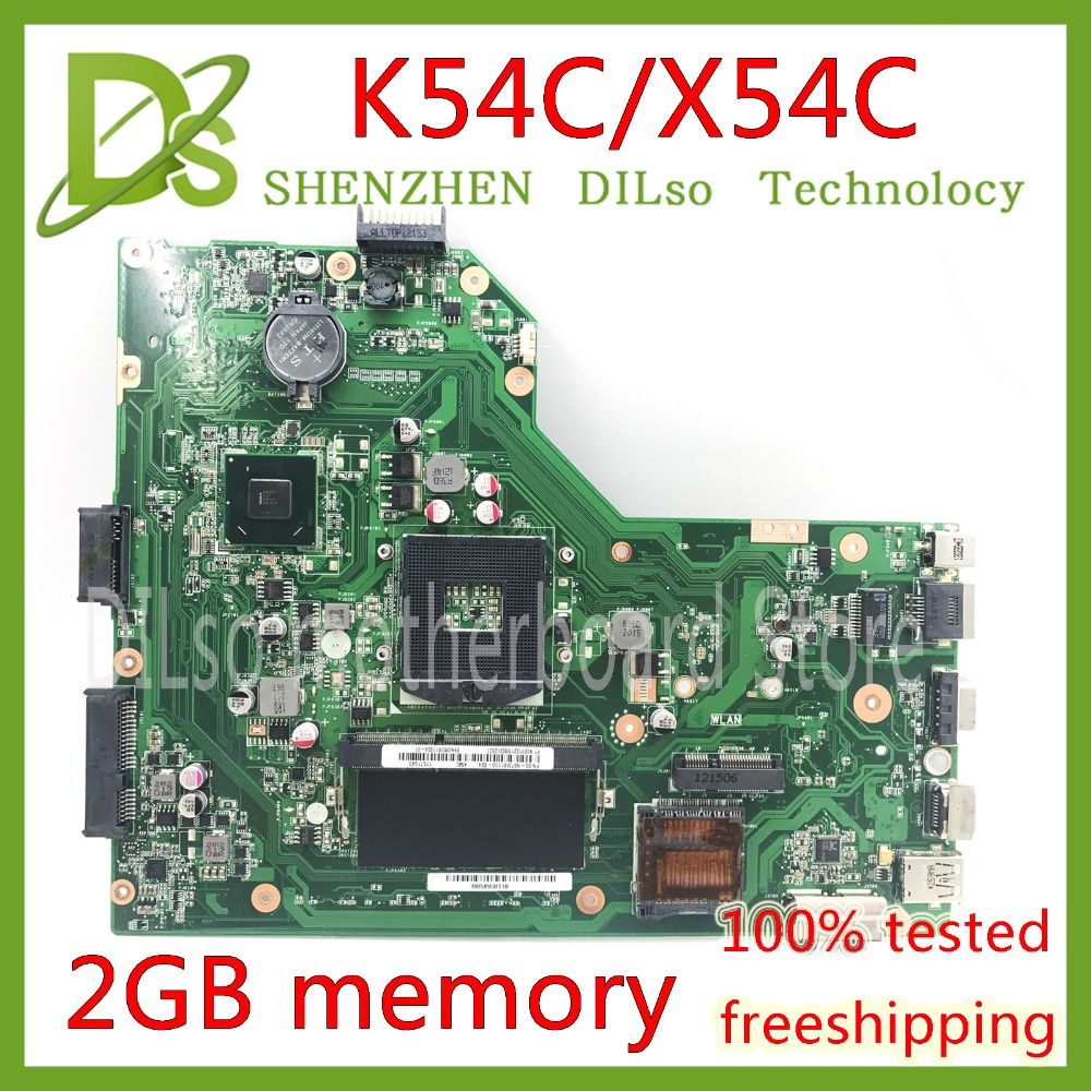 KEFU K54C mainboard For ASUS X54C K54C laptop motherboard 2G memory Test work 100% original work motherboard for asus k43sd laptop motherboard processor i3 8 memory 2g mainboard 100