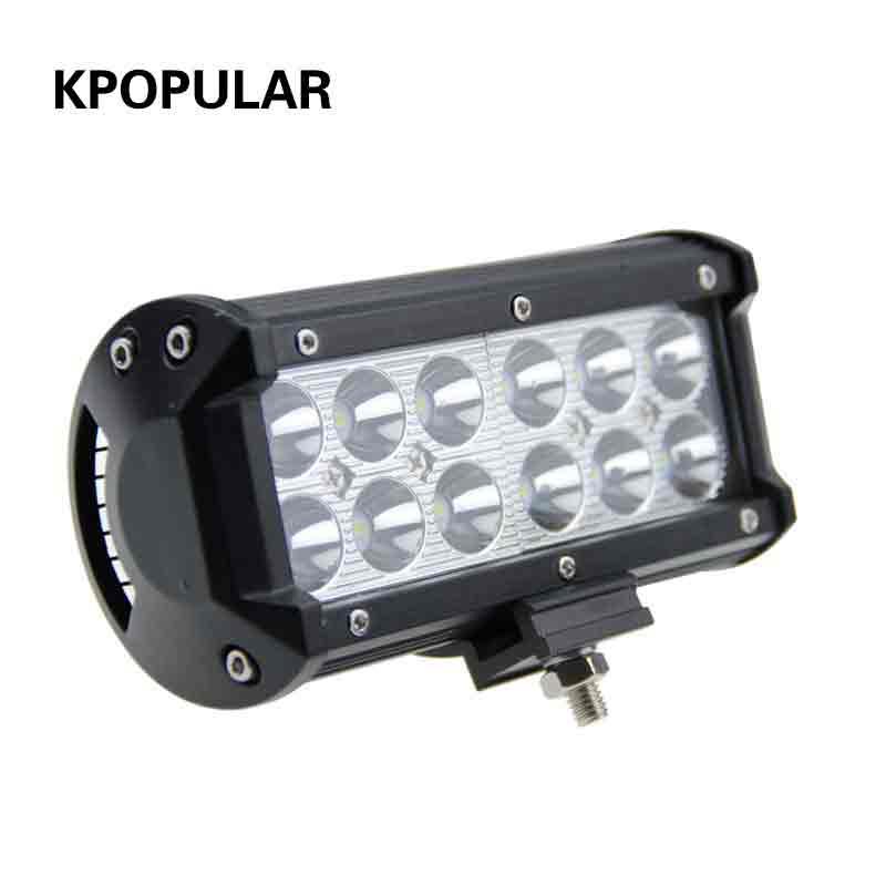 36 w lampe de travail led faisceau supplémentaires lumières led phares pour les voitures faisceau barre de led projecteur pour voitures led spotlight pour SUV