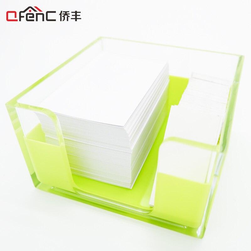 QFENC Office Organizer Note Card Box Business Card Organizer Acrylic ...