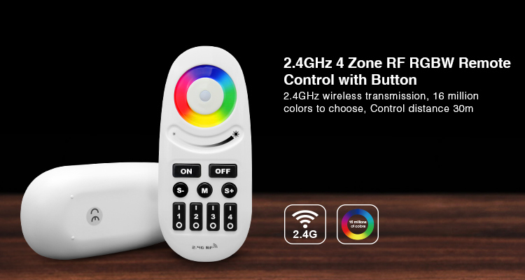 Mi.Light 2.4G RF 4-Zone Wireless Touch Screen RGBW LED Remote Controller Dimmer FUT095 For RGBW LED Bulb Or LED Strip Light Tape
