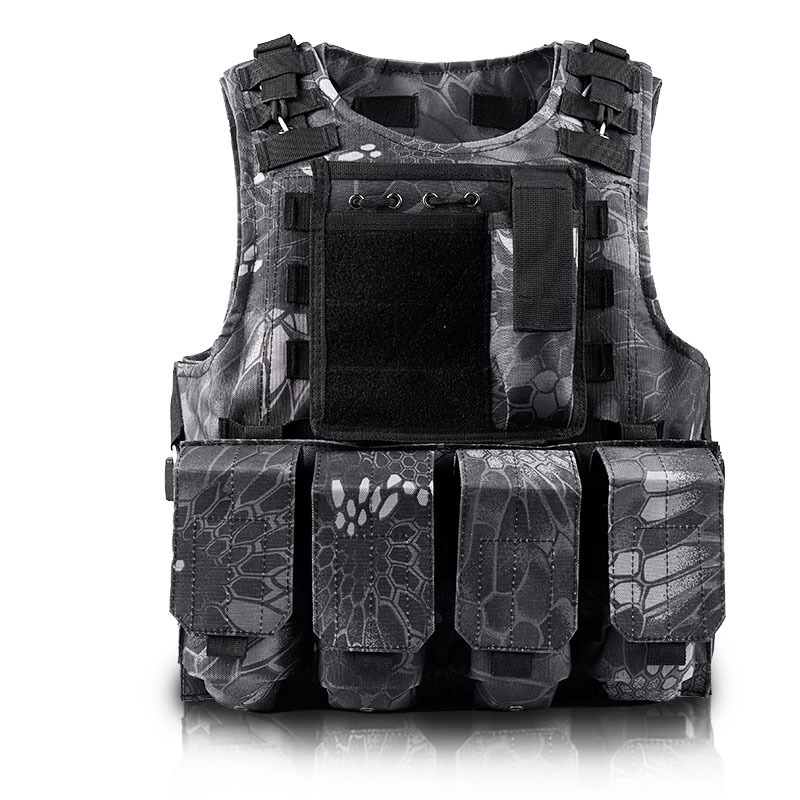 Camouflage Jakt Airsoft Militär Vest Mens Bulletproof Army CS Paintball Armé Tactical Equipment Chalecos Combat Gear Västar