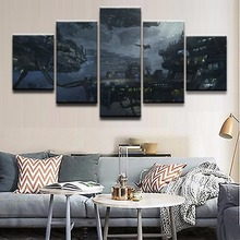 Home Wall Art Modern Decor Painting Top-Rated Canvas Print Posters 5 Pieces Game Star Citizen Landscape Pictures Framework top posters холст top posters 50х75х2см g 1044h