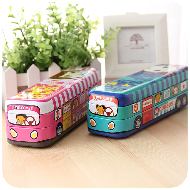 Stationery car stationery box tin pencil case multifunctional pencil box