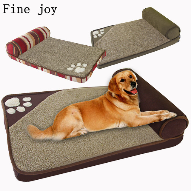 Fine Joy Dog Beds For Large Dogs House Sofa Kennel Square Pillow Husky Labrador Teddy
