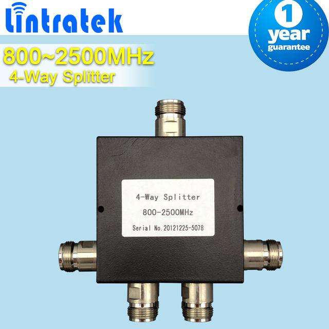4 Way Conector Fêmea N 4-Way Poder Splitter 800-2500 mhz Micro-strip Divisor De Potência Para O Telefone Móvel Repetidor de sinal de Reforço