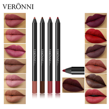 Professional Waterproof Lip Liner Pencil Long-lasting Matte Lipstick Pencil Lip Liner Brown Natural Lips Contour Makeup Tools цена