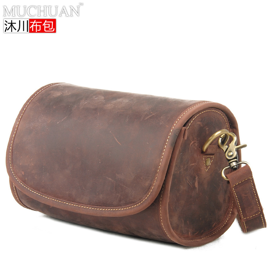 Restore Ancient Ways Package Genuine Single Shoulder Satchel Head Layer Leisure Time Diagonal Matting Crazy Horsehide Package  muchuan cloth 2014 european restore ancient ways trend man single shoulder package diagonal package ma am leisure time package