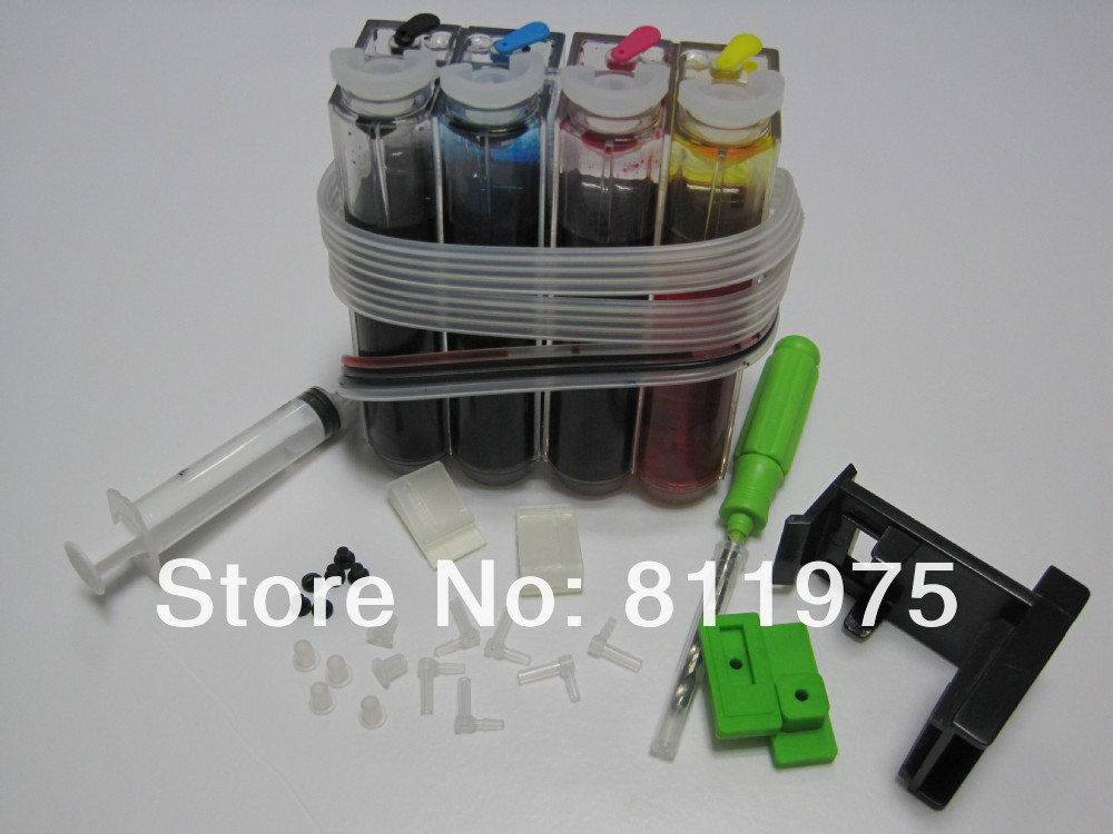 Free Shipping CISS DIY Continuous Ink System For CANON PIXMA MP210 MP228 MP450 MP460 MP470 Printer