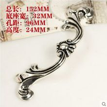 96mm vintage distress silver furniture door handles antique silver drawer cabinet pulls knobs handles