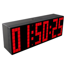 CH KOSDA Digital Large Big Jumbo LED Snooze Countdown Wall Desk Alarm Clock with Thermometer Indoor Calendar Countdown for Days