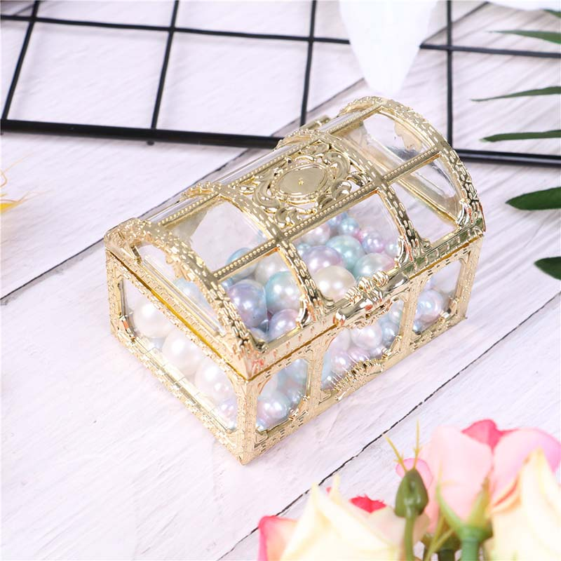 Wedding Jewelry Box Gold Candy Ring Earrings Neckl