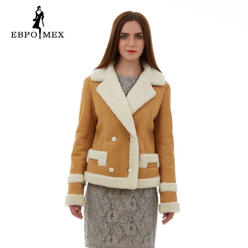 Sobretudo feminino Réel de fourrure femmes manteau de fourrure De Mode Mince De Fourrure femmes manteaux En Daim en cuir manteau en peau de mouton manteau Populaire bleu Clair