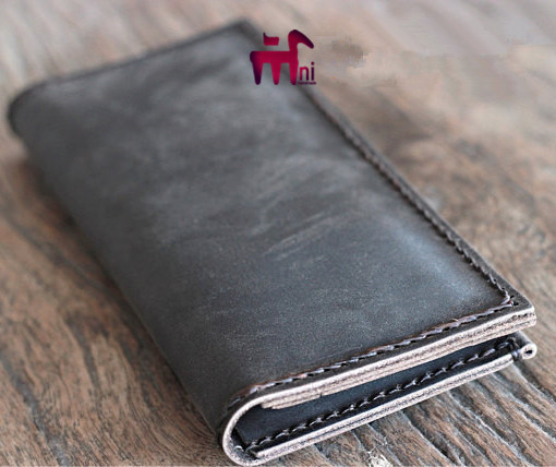 Handmade leather long wallet goods leather paper pattern DIY drawings, CCD-39 minimalist mobile phone packet length version clip