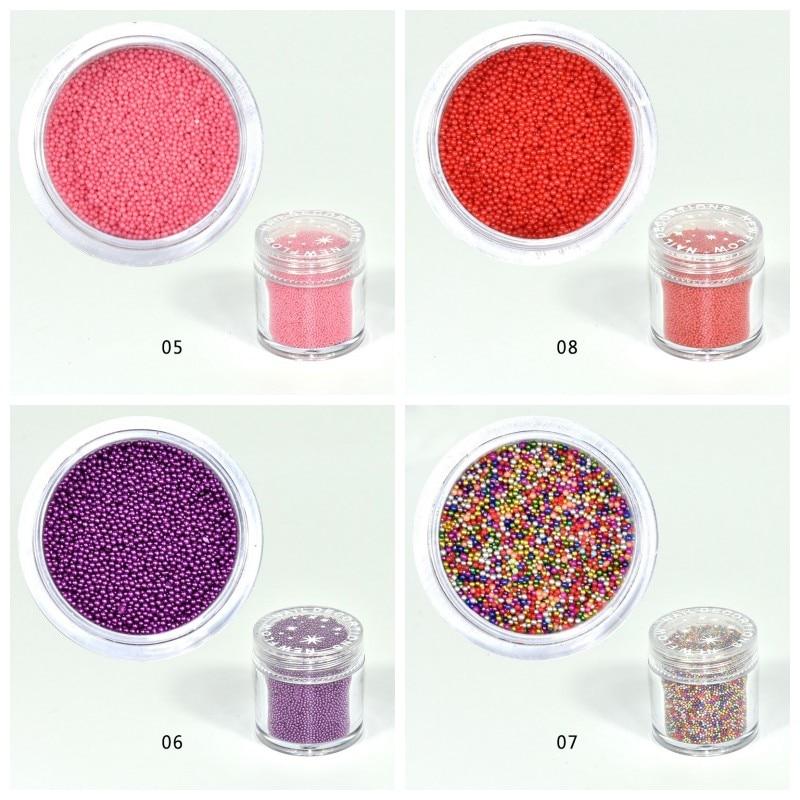 1-15 Dauerhafter Service Systematisch 15 Farben 1 Box 10 Ml Mini Ball Micro Kristall Nagel Caviar Perlen 0,6-0,8mm 3d Nagel Caviar Nail Art Spitze Dekorationen Pla06