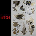 Butterfly rose jewelry sticker tattoo metallic golden flash tattoos tattoo large temporary tattoo prices sticker