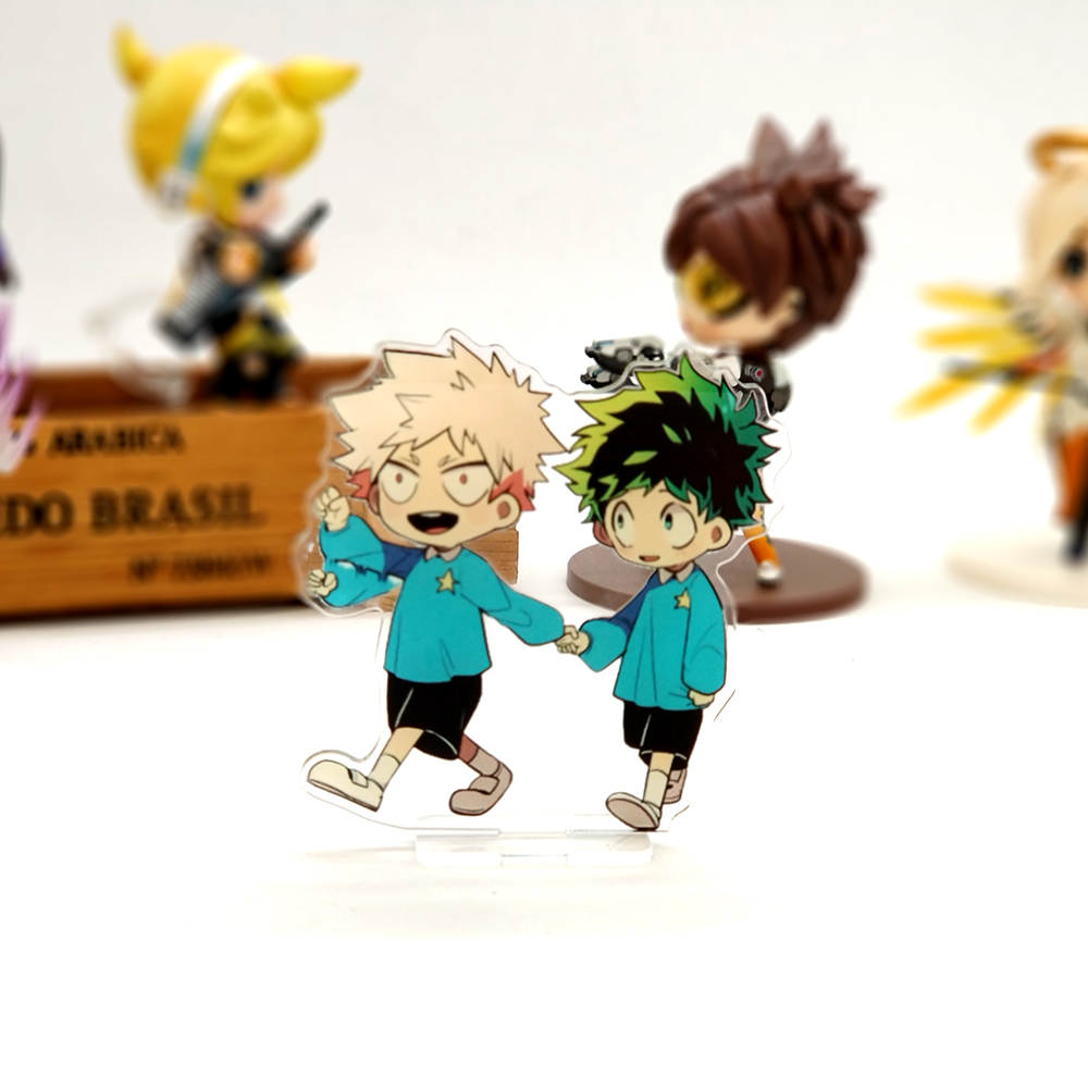 Love Thank You My Hero Academia childhood Midoriya Bakugo SMALL acrylic stand figure model plate holder cake topper anime boku