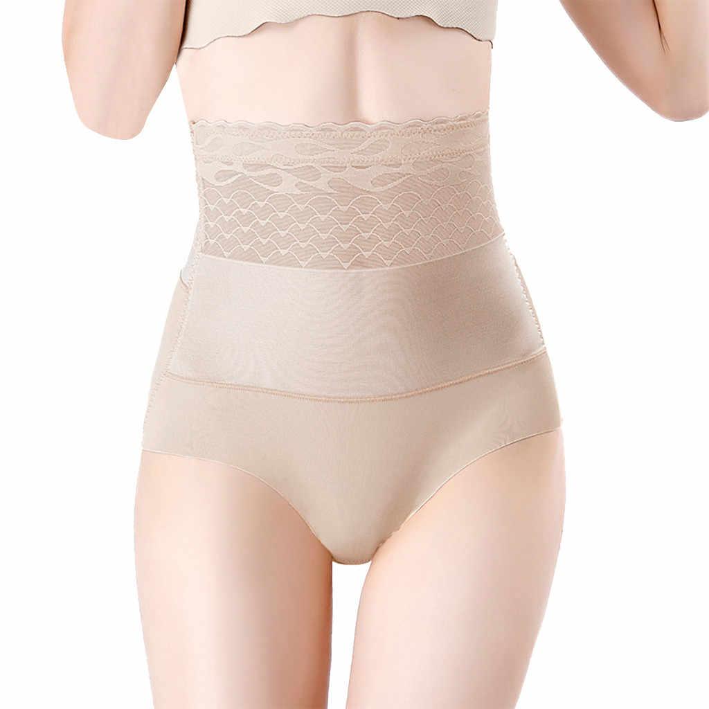 Señoras cintura posparto sexy corsés laterales de encaje postparto colección ropa interior femenina modeladora de cuerpo caderas pantalones 2019 nuevo