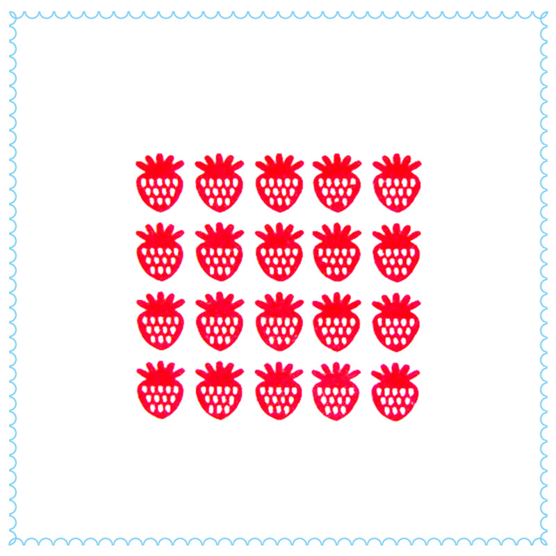 2016 New Product Strawberry Wall Sticker - A Total Of 40 Baby and Girls Room Creative Home Decor Food Aficionado Room Wall Art