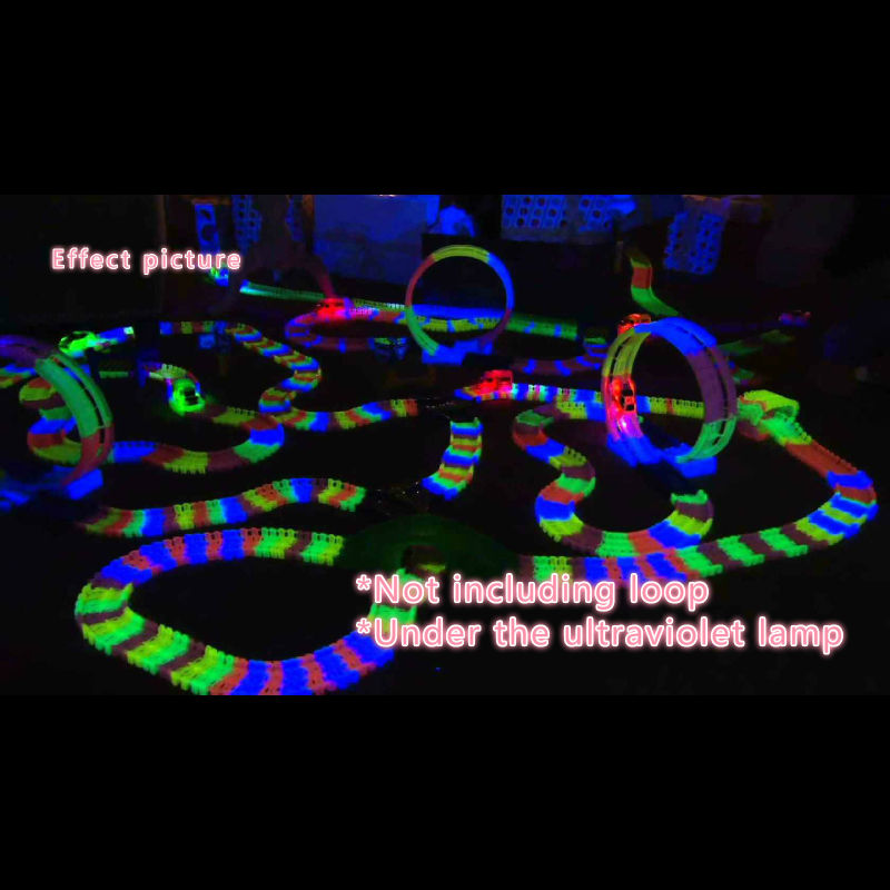 600pcs track 1pcs Led car TRACKS Miraculous Glowing Race Track Bend Flex Cars toys for children brinquedos speelgoed