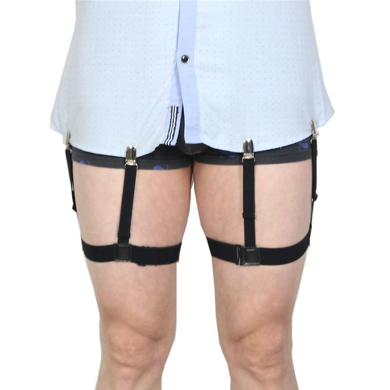 Men's Suspenders Apparel Accessories Elastic Suspenders Men Shirt Stays Garters Adjustable Non-slip Shirt Holders Leg Belt Anti-wrinkle Braces Men Suspenders Bretels