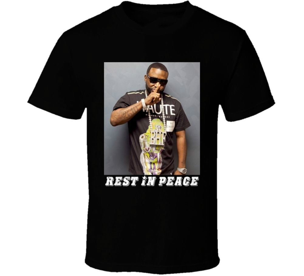 Shawty Lo Rest In Peace Atlanta Rapper Hip Hop Music T shirt T-Shirt Short Sleeve Top Fashion Design Free Shipping