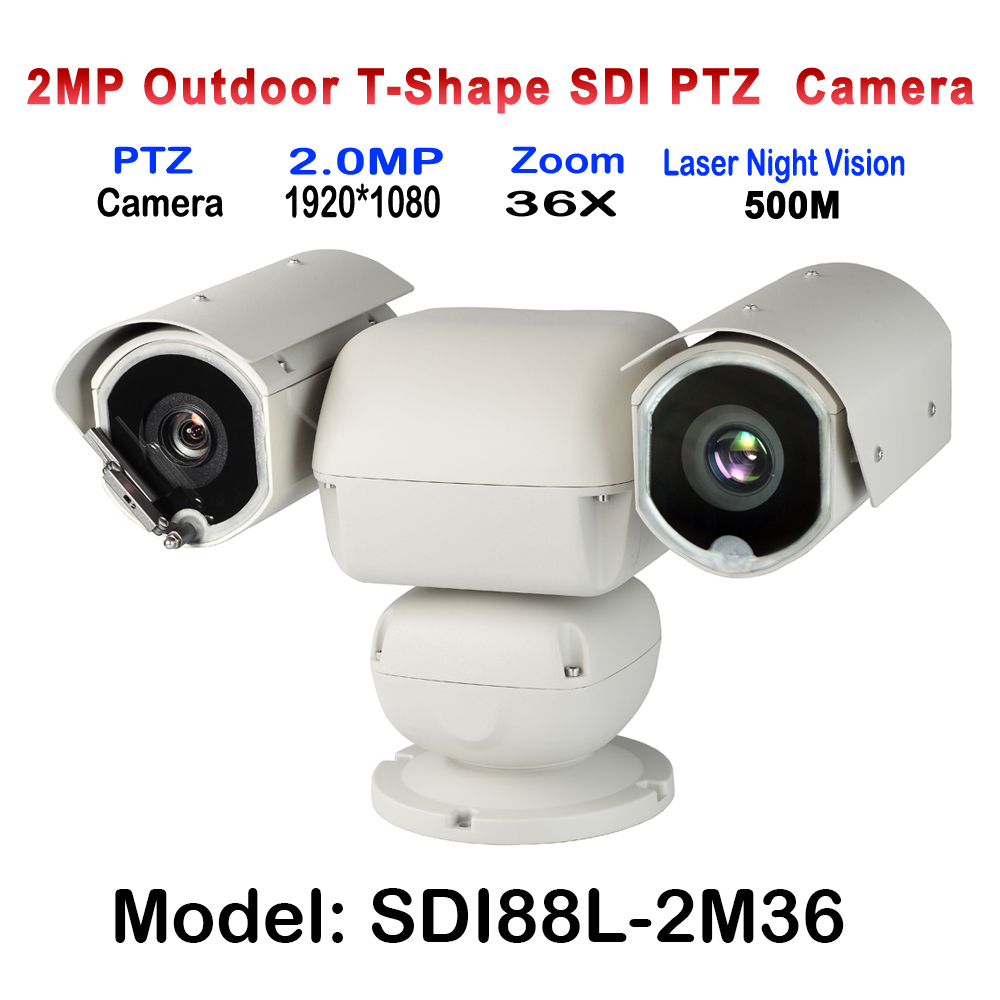 Outdoor Heavy-duty 500M Laser Speed Dome PTZ Camera HD-SDI With x 36 Auto zoom Suitable for Public Vehicle forest grassland xtool ps2 hd auto heavy duty truck diagnostic tool