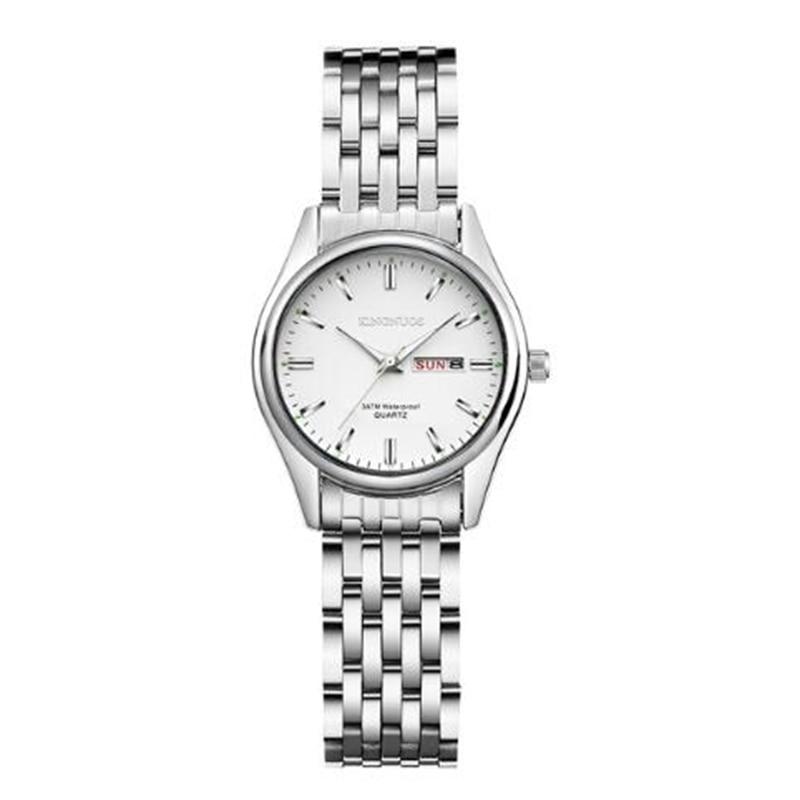 Hot Fashion Creative Watches Women Men Quartz Watch 2020 Brand Unique Dial Design Lovers' Steel Strip Wristwatches Clock
