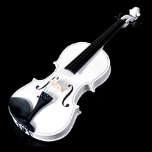 Beginner level adult violin,white children training violin 1/8-4/4,with violin box parts,high cost performance green pink violin