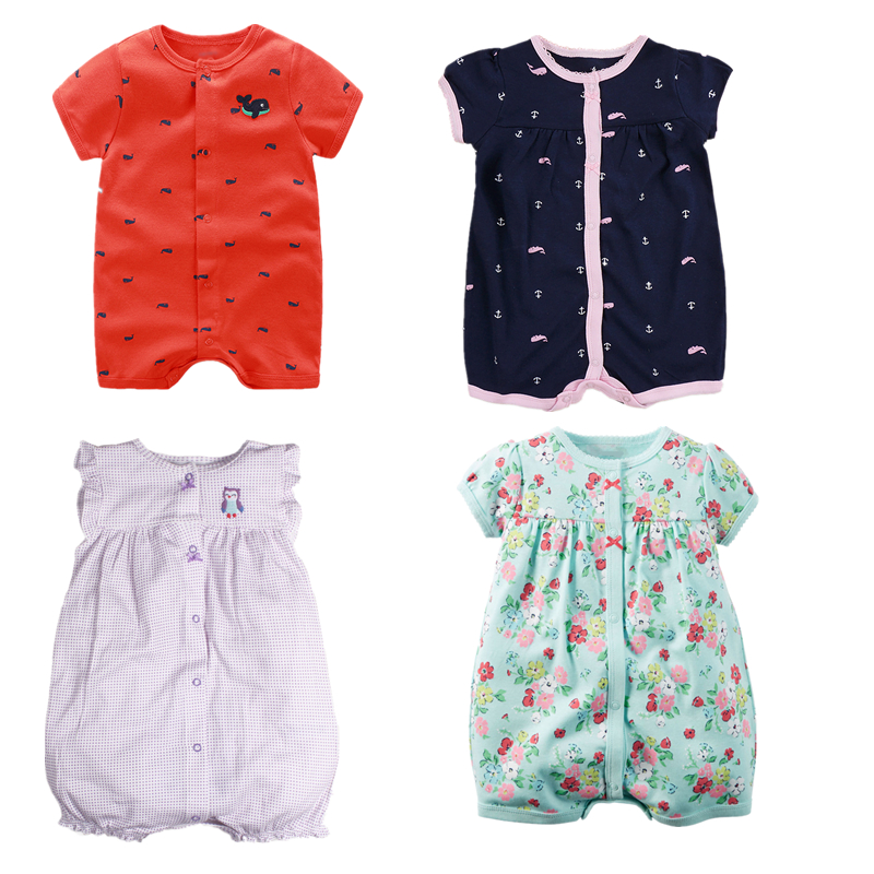 2018 Newborn Babys Romper Summer Casual Cotton Boys Clothes Cartoon Mickey Long Sleeve Baby Girls Clothing