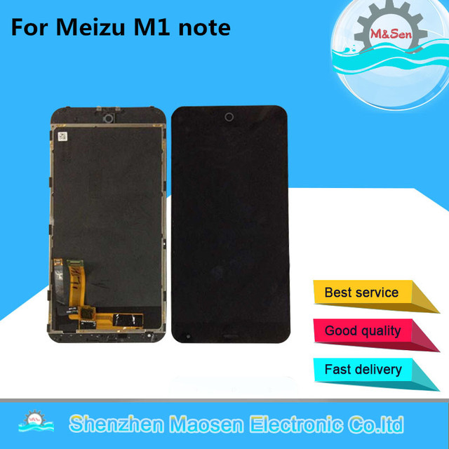 M&Sen For 5.5'' Meizu M1 note Meilan Note M463U LCD screen display+touch digitizer with frame black free shipping