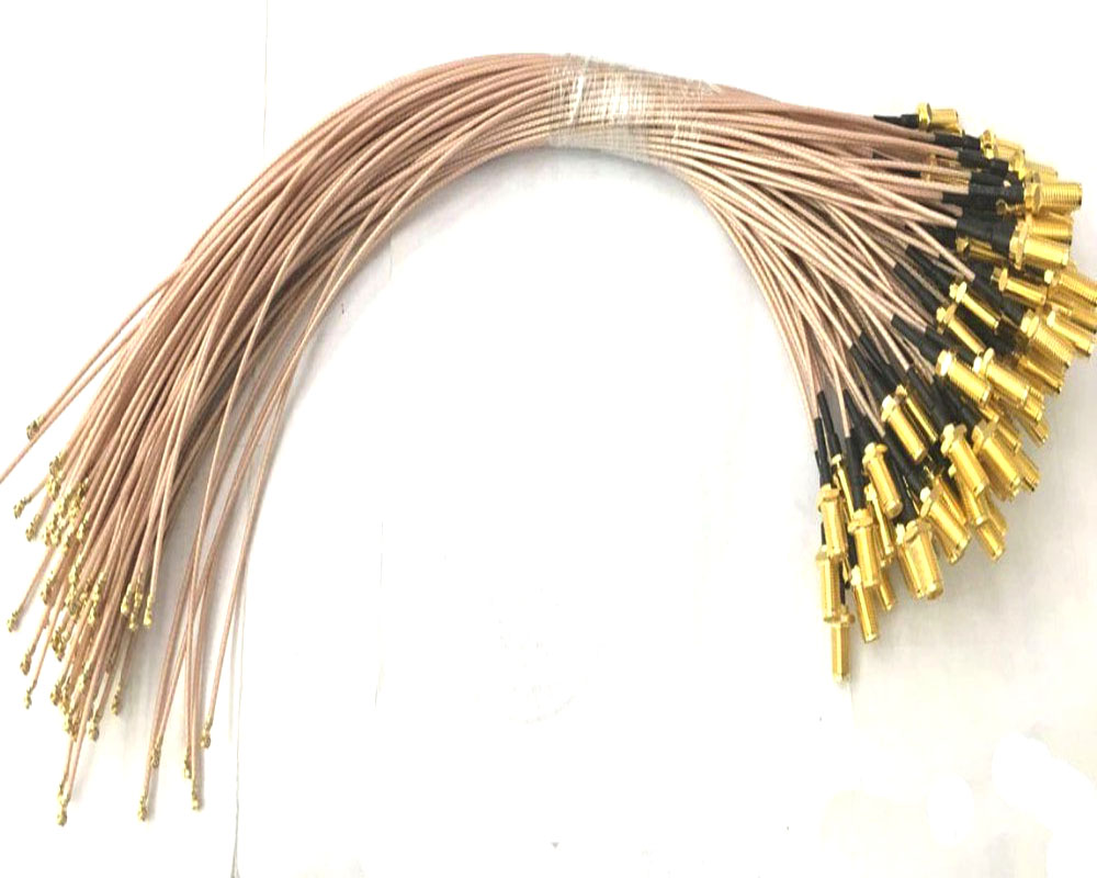 100pcs RG178 Cable 10cm SMA Jack Female to uFL u FL IPX IPEX RF Coax Adapter