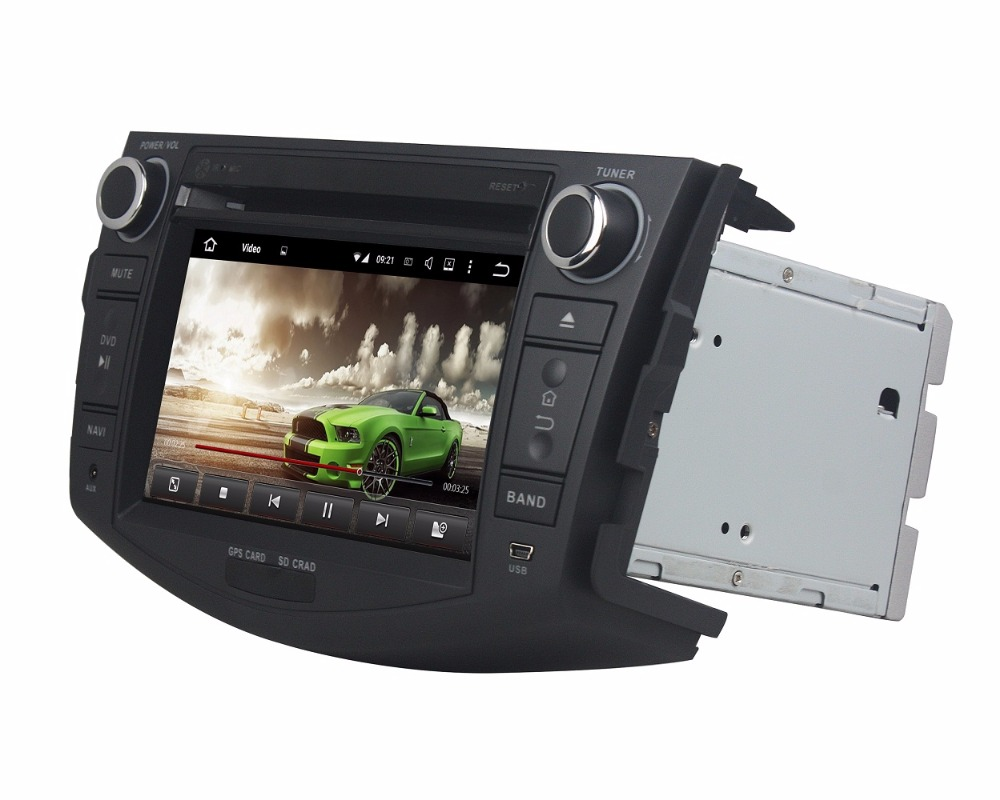 Excellent Octa Core 7 inch 8 core Android 9.0 Car Radio DVD player GPS for for Toyota RAV4 2006-2012  gps 4G RAM 64G ROM stereo auto audio 6