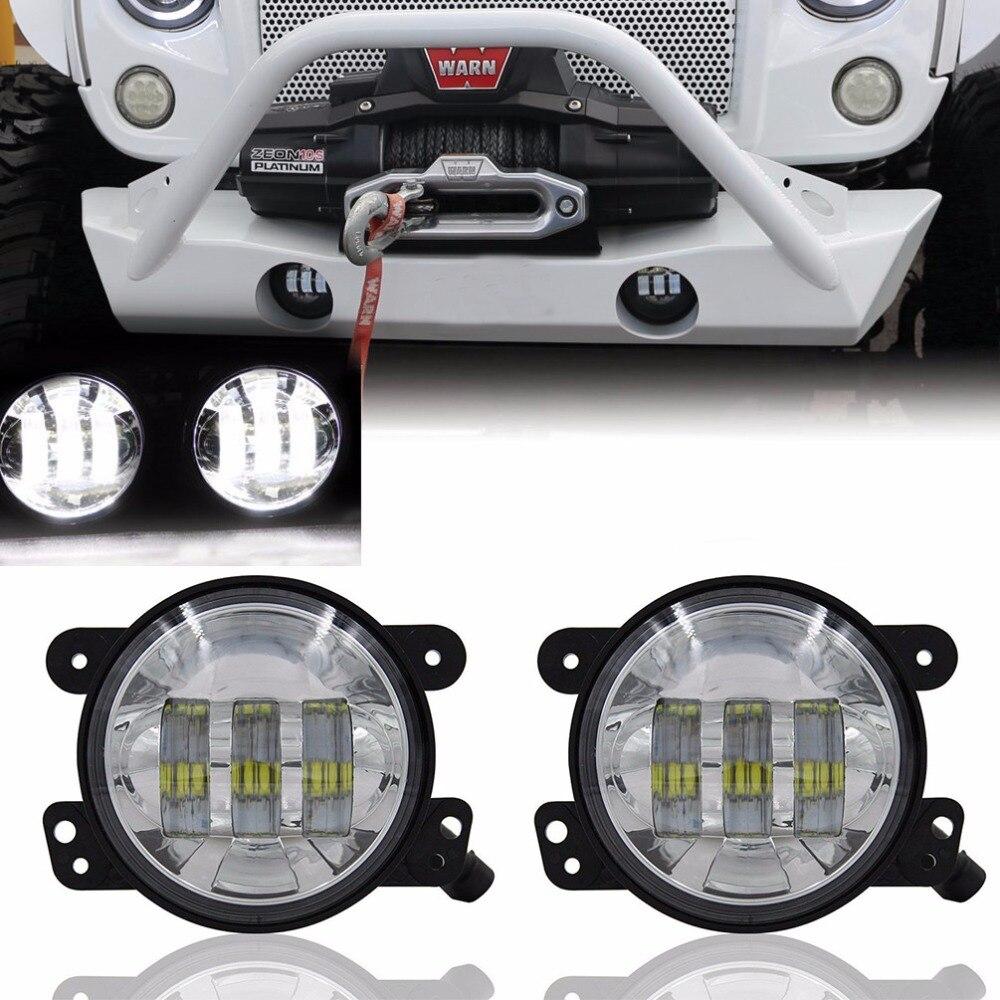 2шт 4 дюйма 60W светодиодные противотуманные фары для Jeep Вранглер JK JKU 97-17 ТДЖ ЖЖ Свобода,Рубикон, Спорт,Сахару противотуманные лампы лампы