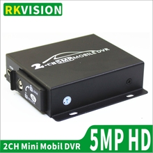 Прямая с фабрики двойная sd-карта Мобильный DVR Поддержка CVBS/AHD двухканальный 5.0MP/1080p 2CH мини DVR для всех видов автомобилей