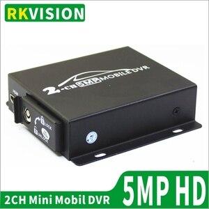 Прямая поставка с фабрики, двойная sd-карта, мобильный видеорегистратор с поддержкой CVBS/AHD, двухканальный 5.0MP/1080p, 2-канальный мини DVR для всех в...