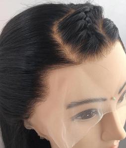 Image 4 - Поддельные волосы головы парик 360 кружевных фронтальных париков предварительно сорвал с Детские Волосы бразильские волнистые человеческие волосы незаметная шапочка под парик бесклеевая парики