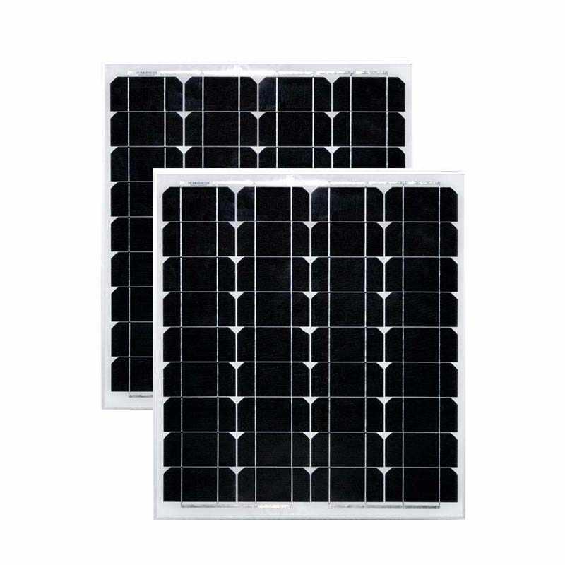 Bảng điều khiển Năng Lượng Mặt Trời 50 wát 18 v 2 cái 12 v Pin Năng Lượng Mặt Trời Sạc Panneaux Solaire Cắm Trại Xe 100 Watt Trại sạc Motorhome RV Thuyền