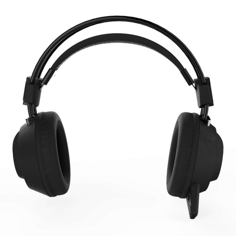 Stylish PC Computer Stereo Gaming Headset with Microphone Wired USB Gaming Over Ear Headphone with Low sounds LED Lighting
