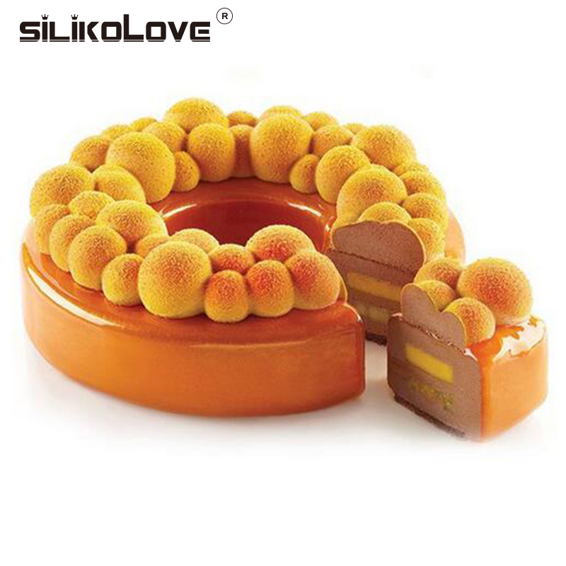 SILIKOLOVE Round Cherry Bubble Cake Molds Silicone Mold Non-stick For Baking Brownie Chiffon Sponge Party Cakes