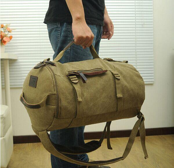 viaje bolsa de lona deporte mochila de Retro cuero la de 2014 lona wxaYqFf6